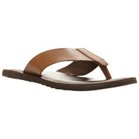 Dune Inka Trail Leather Toe Post Sandals Tan Red