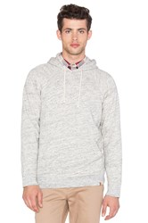 Obey Monument Terry Pullover Hood Light Gray