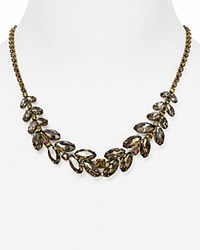 Sorrelli Swarovski Crystal Bib Necklace 16 Green Tapestry