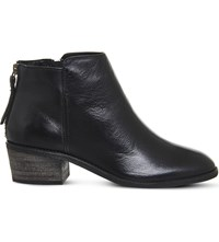 Office Library Leather Boots Black Leather