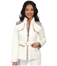 Vince Camuto Quilted Coat Off White Women's Coat Beige