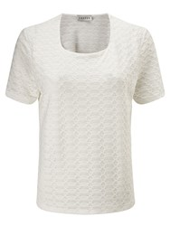 Eastex Square Neck Texture Top Neutral