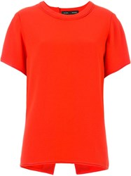 Proenza Schouler Slit Detail Blouse Red