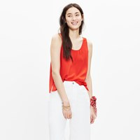 Madewell Silk Sundown Tank Top