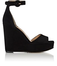 Paul Andrew Women's Adalet Suede Wedge Sandals Black