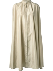 Jean Louis Scherrer Vintage Long Cloak Nude And Neutrals