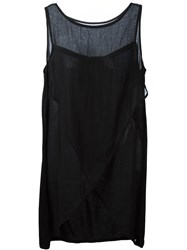 Twin Set Sheer Wrap Tank Black
