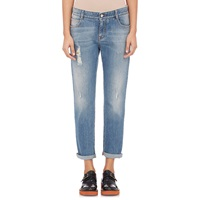 Stella Mccartney Distressed Boyfriend Jeans Blue Whale