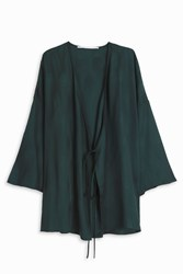 Rosetta Getty Peacock Kimono Blouse Green