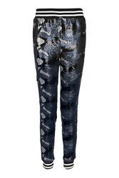 Topshop Sequin Camouflage Joggers Blue