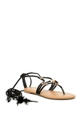 Liliana Aries Ankle Lace Sandal Black