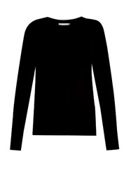 Vince Cut Out Back Cashmere Knit Sweater Black