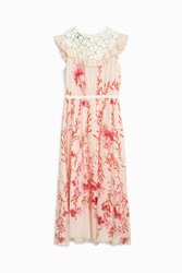 Giambattista Valli Lace Bib Midi Dress Multi