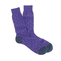 J.Crew Small Dot Socks Purple Grey Dots