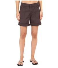 Carhartt Relaxed Fit El Paso Shorts Dark Shale Women's Shorts Brown