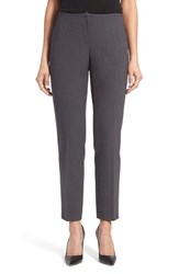 T Tahari Women's 'Dessa' Slim Leg Suit Pants Charcoal Heather