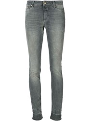 Closed Distressed Skinny Jeans Grey