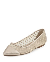 Adrianna Papell Jewel Faille Pointed Toe Flat Yellow