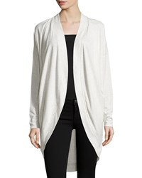 Love Scarlett Drape Front Dolman Cardigan Fog Heather