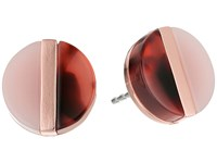 Michael Kors Color Block Studs Earrings Rose Gold Blush Blush Tortoise Earring Beige
