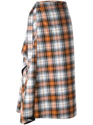 Cedric Charlier Checked A Line Skirt Multicolour