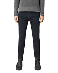 Allsaints Niigaki Cigarette Slim Fit Jeans In Indigo Blue