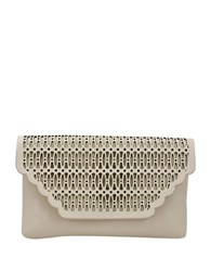 La Regale Lattice Laser Cut Envelope Clutch Sand