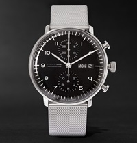 Junghans Max Bill Chronoscope Stainless Steel Watch
