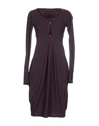 High Tech Knee Length Dresses Deep Purple