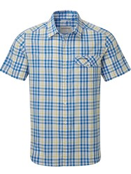 Craghoppers Lomand Short Sleeved Shirt Bright Blue