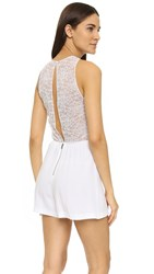 Alice Olivia Air Jasper Lace Back Romper White