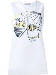 Etre Cecile Front Print Tank Top White