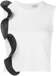 Opening Ceremony Pleat Detail Crop Top White