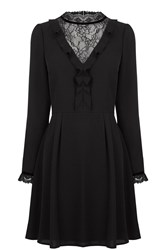 Oasis Lace Insert Dress Black