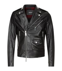 Dsquared2 Motorcycle Jacket Male Black