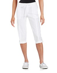 Lord And Taylor Petite Cargo Capri Pants White