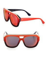 Dax Gabler Oversized Aviator Red Ombre