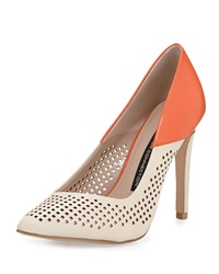 French Connection Maya 2 Perforated Pump Orange Sugar