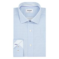 Duchamp Hexagon Floral Tailored Shirt Powder Blue
