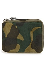 Saturdays Surf Nyc 'Scott Fz' Suede Zip Around Wallet Camo