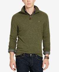 Polo Ralph Lauren Men's Estate Rib Half Zip Sweater Alpine Heather Green