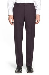 Men's Z Zegna Flat Front Solid Wool Trousers