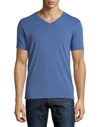 Ag Jeans Short Sleeve V Neck T Shirt Blue