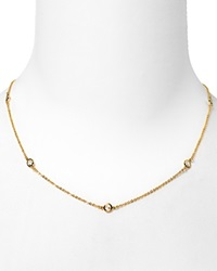 Crislu Cubic Zirconia Accented Necklace 16L Gold