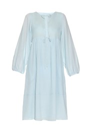 Loup Charmant Goa Cotton Voile Dress Light Blue
