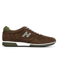 Hogan Lace Up Trainers Brown