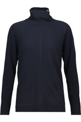 Magaschoni Dolman Cashmere Turtleneck Sweater Midnight Blue