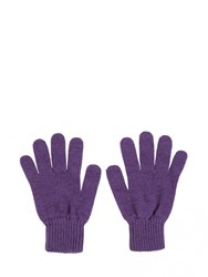 Johnstons Of Elgin Cashmere Ladies Gloves Purple
