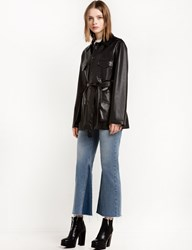Pixie Market Leather Cargo Belted Jacket