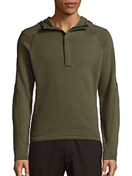 Spyder Long Sleeve Hooded Pullover Olive